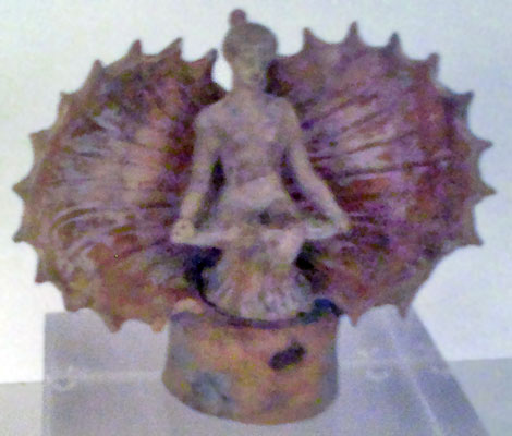 Aphrodite emerging from an open seashell