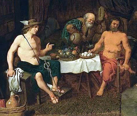 Philemon and Baucis giving Hospitality to Jupiter and Mercury