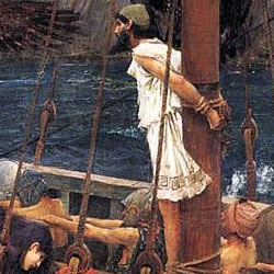 greek hero Odysseus-Paintings and Mosaics