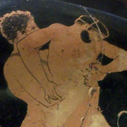 myths about Theseus -The Wrestler Cercyon